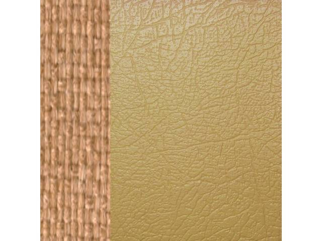 UPHOLSTERY SET, Premium, Front Buckets, Dlx, Camel Tan,