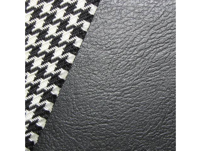 Upholstery Set Premium Front Buckets Dlx Houndstooth Black