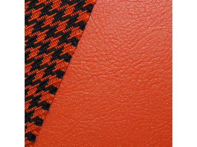 Upholstery Set Premium Front Buckets Dlx Houndstooth Orange