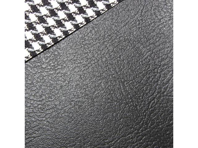 UPHOLSTERY SET, Rear Seat, Dlx Houndstooth, Black, Madrid