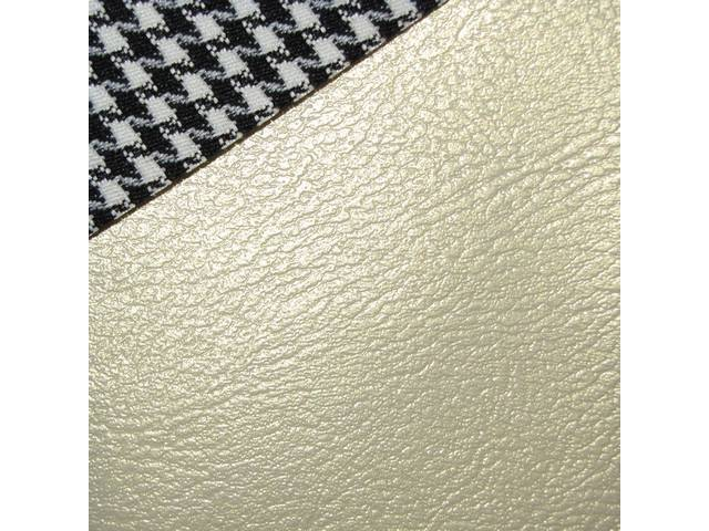 UPHOLSTERY SET, Rear Seat, Dlx Houndstooth, Parchment, Madrid