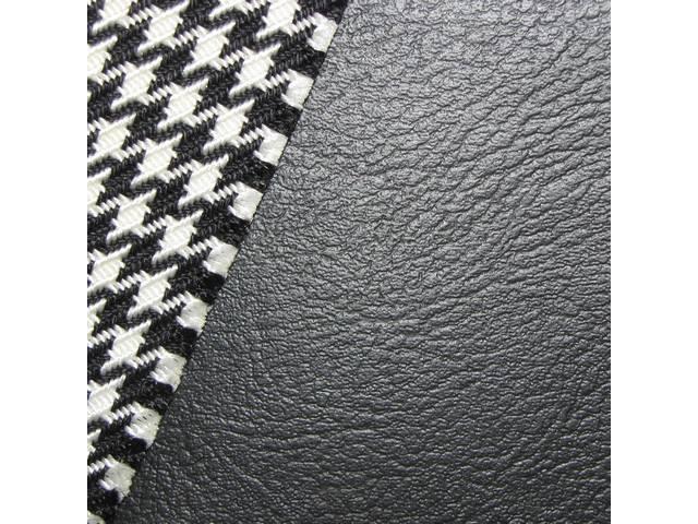 UPHOLSTERY SET, Premium, Rear Seat, Dlx, Cloth, Black