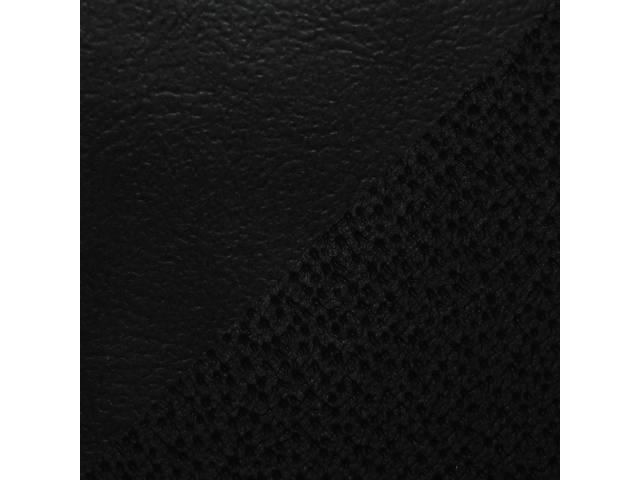 UPHOLSTERY SET, Rear, Dlx, Black, Sierra Grain Vinyl