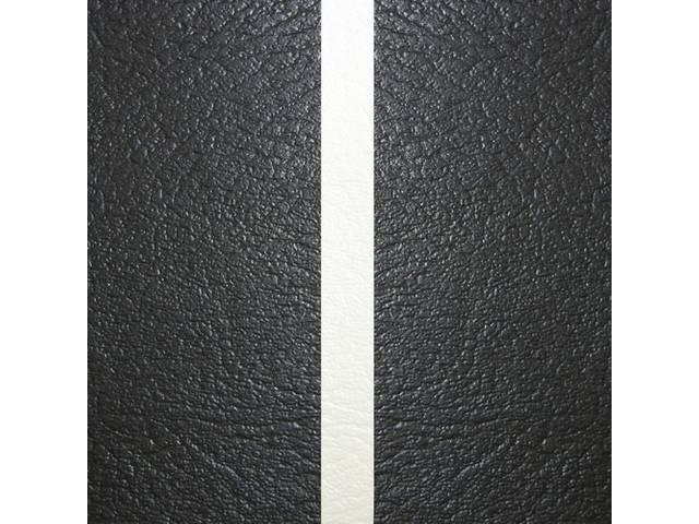 UPHOLSTERY SET, Premium, Dlx, Black w/ White Accent, Madrid Grain Vinyl W/ Madrid Grain Inserts, 53 inch wide
