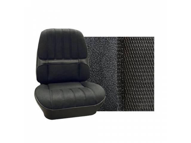 Upholstery Set Premium Rear Seat Dlx Black Madrid