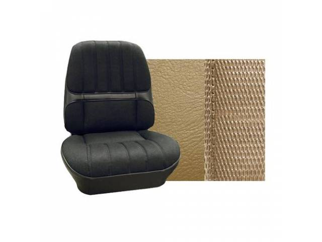 Upholstery Set Premium Rear Seat Dlx Saddle Madrid