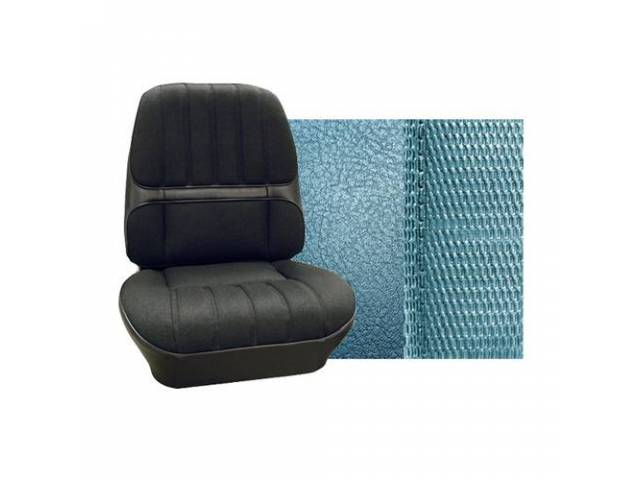Upholstery Set Premium Rear Seat Dlx Bright Blue