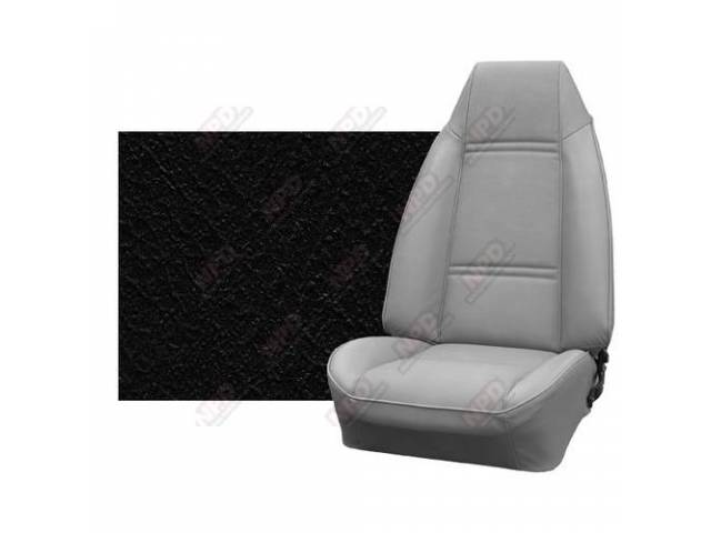 Upholstery Set Premium Rear Seat Dlx Black Haircell