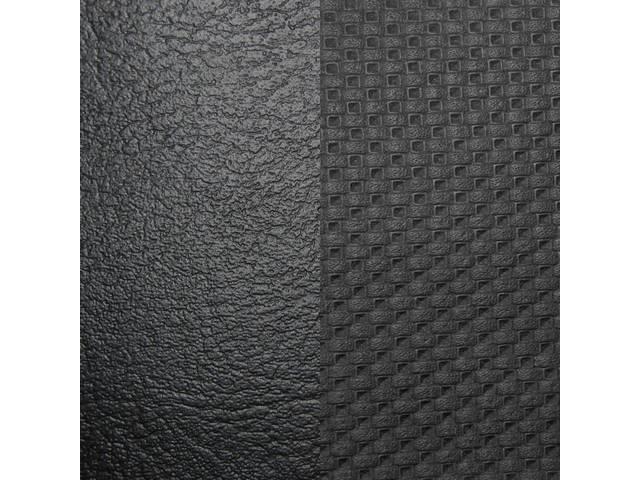 UPHOLSTERY SET, Front and Rear W/ Bucket Fronts, Std, Black, Madrid Grain Vinyl W/ Laredo Grain Vinyl Inserts