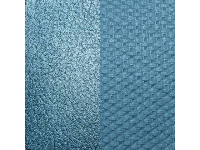UPHOLSTERY SET, Front and Rear W/ Bucket Fronts, Std, Bright Blue, Madrid Grain Vinyl W/ Laredo Grain Vinyl Inserts