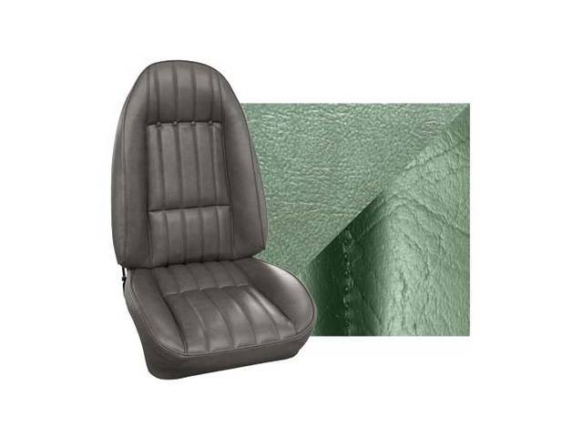 Upholstery Set Front Buckets Std Willow Green Sierra
