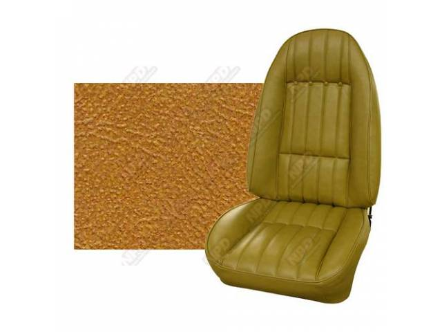 Upholstery Set Premium Front Buckets Std Camel Tan