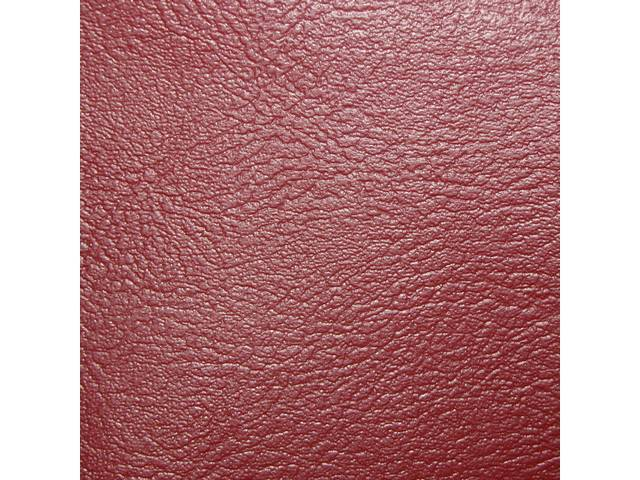 UPHOLSTERY SET, Premium, Rear Seat, Std, Red, Madrid Grain Vinyl