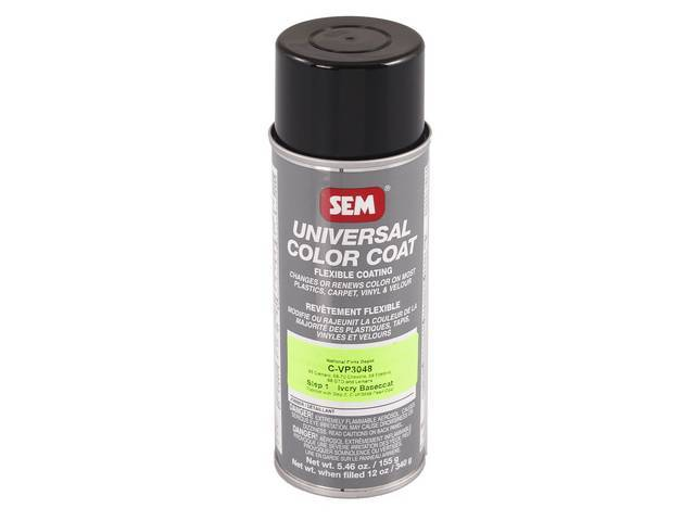 INTERIOR VINYL DYE, Pearl / Parchment, Step 1 (Ivory Base, used on existing Pearl color or when changing color to Pearl / Parchment), 12 fluid ounce spray can
