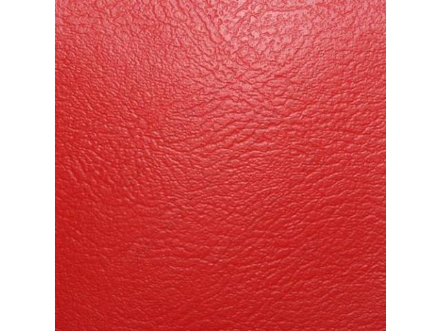 Madrid Grain Vinyl Yardage, Bright Red, 54 inch X 72 inch section, rolled