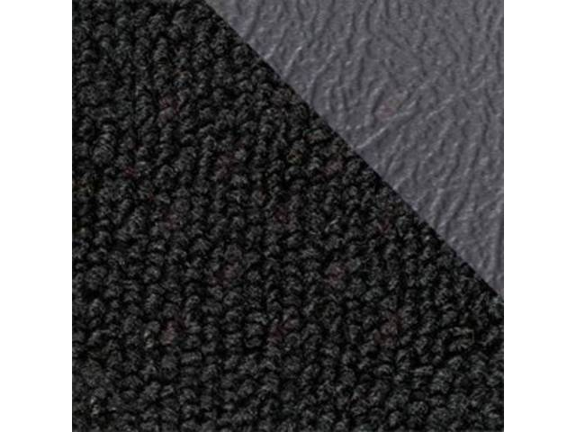 CARPET Raylon Weave black w/ 2 gray inserts