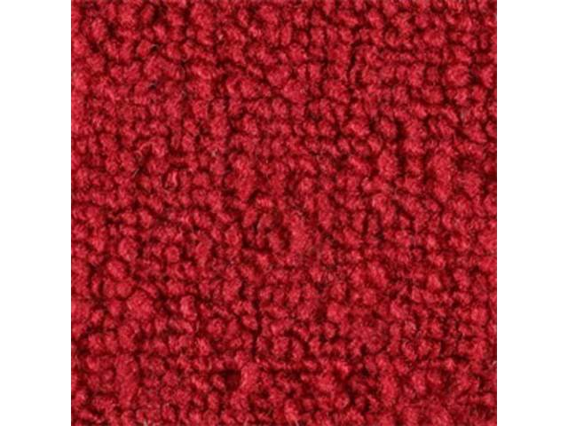 CARPET, LOOPED NYLON WEAVE, 70 RED, WITHOUT TOE