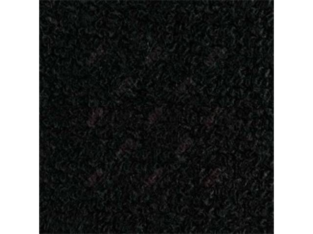 CARPET, Raylon Weave, black, without toe pad as