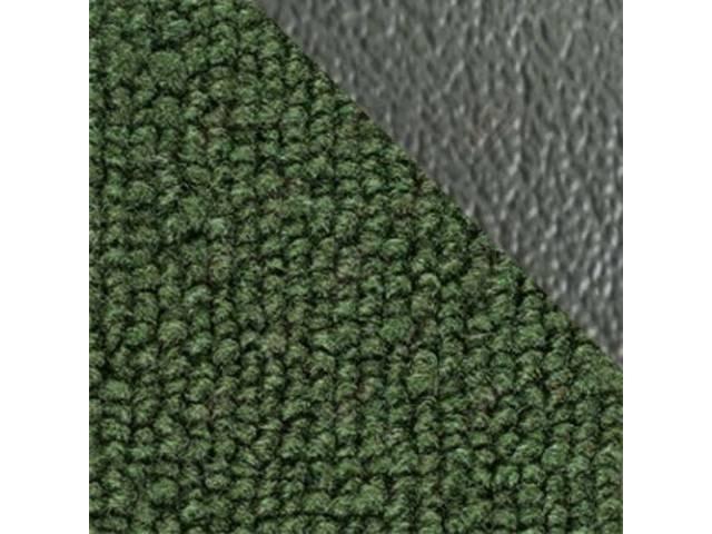 CARPET, Raylon Weave, medium green w/ 2 green