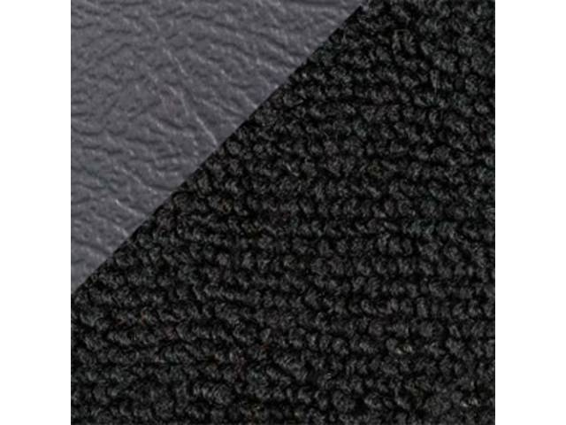 CARPET LOOPED NYLON WEAVE 71-73 BLACK W/ 2