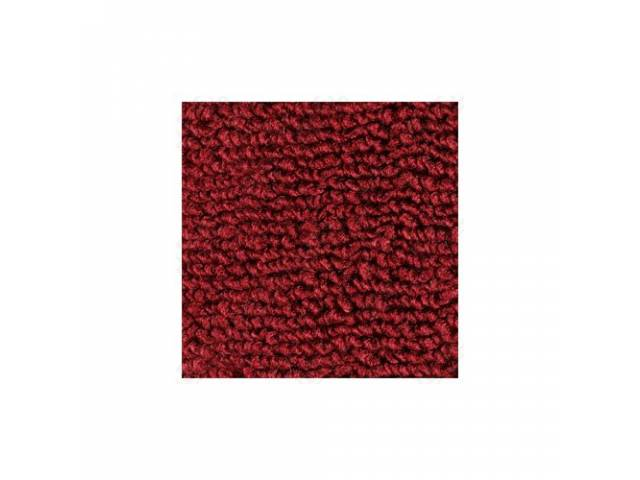 CARPET 100 PERCENT NYLON LOOP 71-73 MAROON