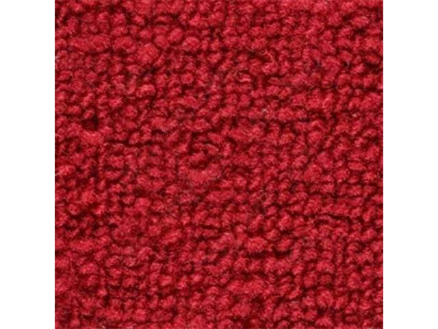 CARPET, Raylon Weave, red, mass backed