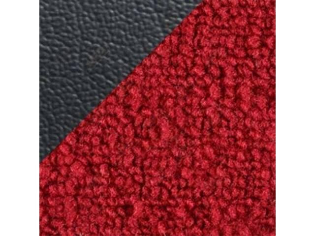 CARPET Raylon Weave red w/ 2 black inserts