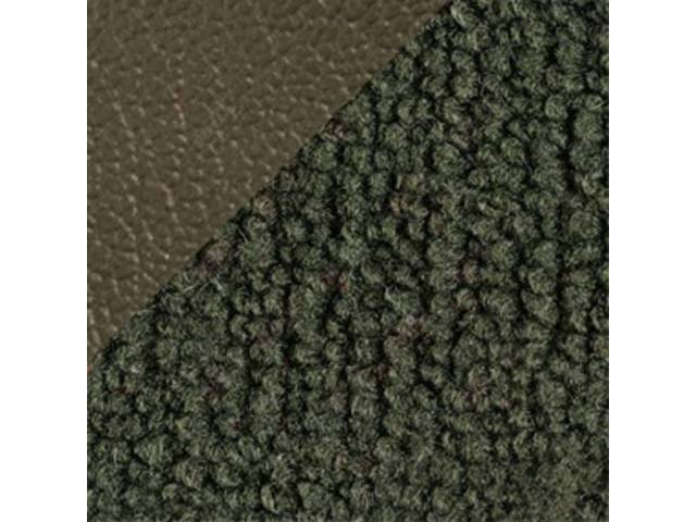 CARPET Raylon Weave medium green w/ 2 green