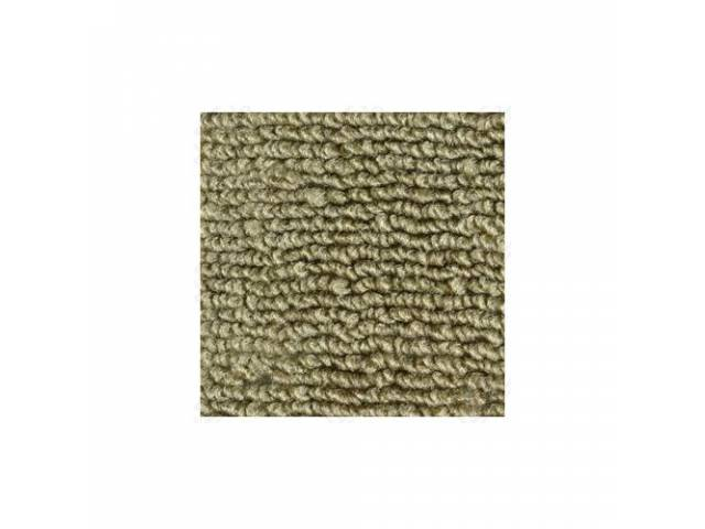 CARPET 100 PERCENT NYLON LOOP 71-73 IVY GOLD