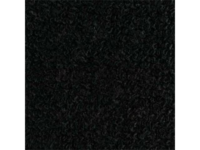 CARPET RAYLON WEAVE 64 1/2 BLACK COUPE HEEL
