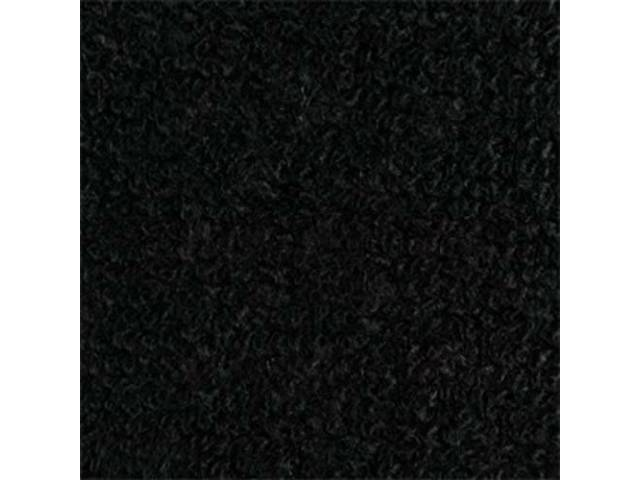 CARPET, RAYLON WEAVE, 64 1/2 BLACK COUPE, HEEL