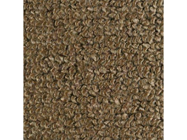 CARPET, RAYLON WEAVE, 64 1/2 LIGHT SADDLE COUPE,