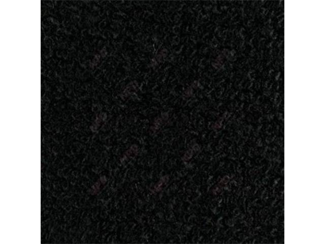 CARPET, RAYLON WEAVE, 64 1/2 BLACK CONVERTIBLE, HEEL