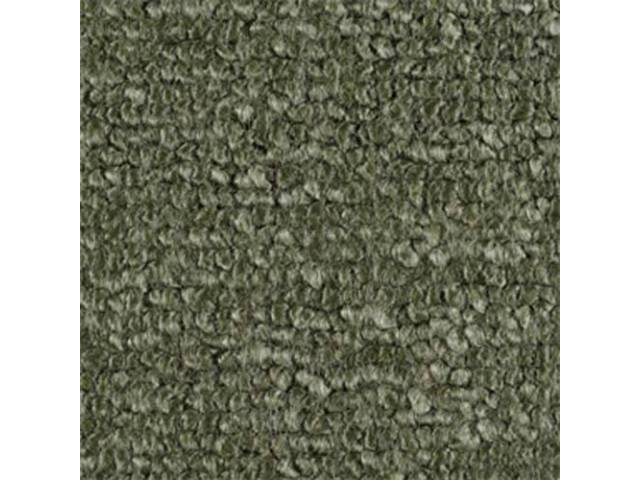 CARPET, RAYLON WEAVE, MOSS GREEN