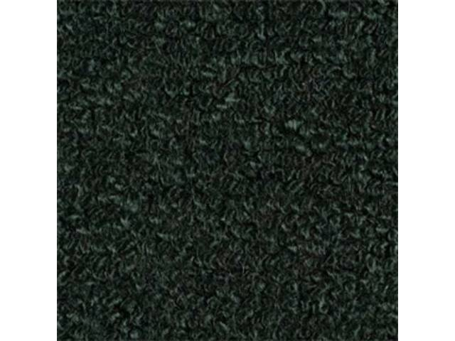 CARPET, RAYLON WEAVE, DARK GREEN