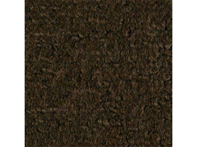 CARPET RAYLON WEAVE DARK BROWN mass backed