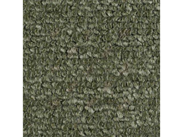 CARPET RAYLON WEAVE MOSS GREEN mass backed This