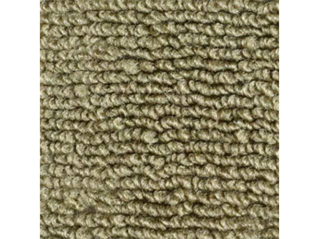 CARPET, LOOPED NYLON WEAVE, 65-68 IVY GOLD, CONVERTIBLE,