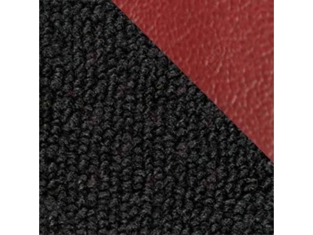 CARPET, Raylon Weave, black w/ 4 red inserts