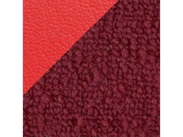 CARPET Raylon Weave red w/ 4 red inserts