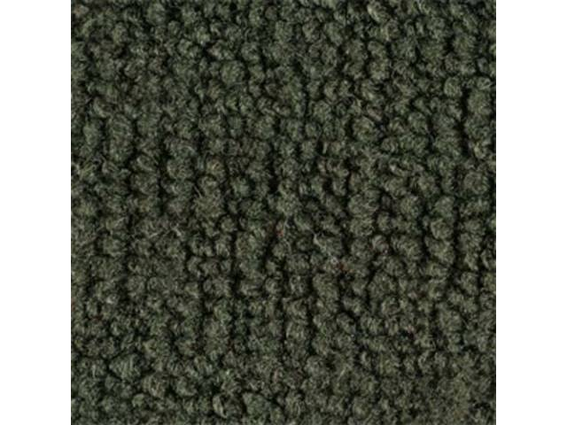 CARPET, LOOPED NYLON WEAVE, 69-70 DARK OLIVE GREEN,