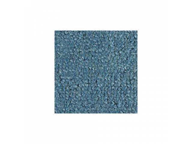 CARPET 100 PERCENT NYLON LOOP 65-68 LIGHT BLUE