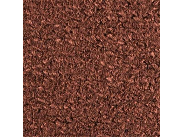 CARPET, Molded, Raylon (Loop Style), 2-piece, dark copper