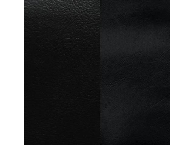 UPHOLSTERY SET, Rear, Dlx, Black, Sierra Grain Vinyl W/ Doeskin Inserts