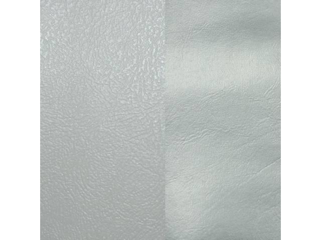 UPHOLSTERY SET, Rear, Dlx, Silver, Sierra Grain Vinyl W/ Doeskin Inserts