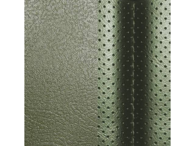 UPHOLSTERY SET, Rear, Dlx, Green, Madrid Grain Vinyl W/ Tetra Inserts