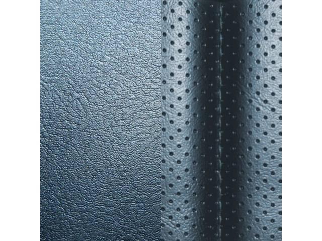 UPHOLSTERY SET, Rear, Dlx, Blue, Madrid Grain Vinyl W/ Tetra Inserts