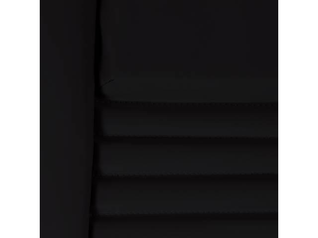 Upholstery Set Premium Rear Dlx Black Doeskin Grain