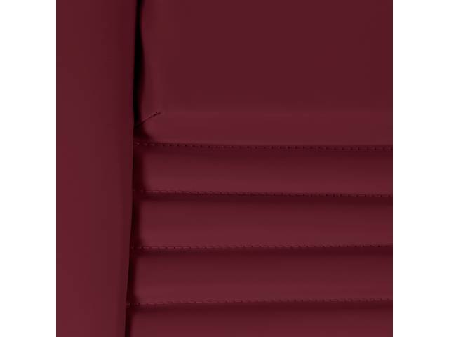 Upholstery Set Premium Rear Dlx Carmine Doeskin Grain