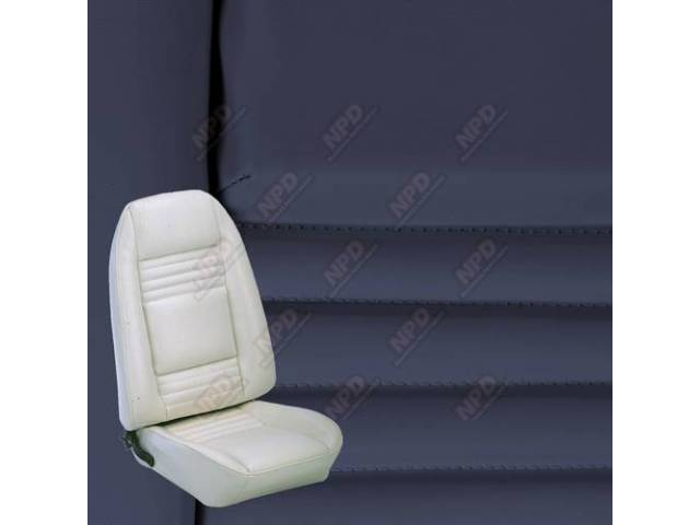 Upholstery Set Premium Rear Dlx Dark Blue Doeskin